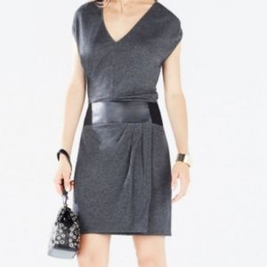BCBG Max Azria Briella Faux Leather Belted Dress
